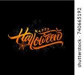 happy halloween | Shutterstock .eps vector #740665192
