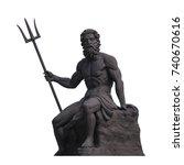 Poseidon Or Neptune A Statue...