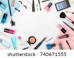 set of professional decorative... | Shutterstock . vector #740671555