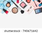 set of professional decorative... | Shutterstock . vector #740671642