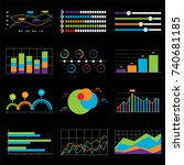 business chart and graph data... | Shutterstock .eps vector #740681185