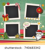decorative vector template... | Shutterstock .eps vector #740683342