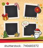 decorative vector template... | Shutterstock .eps vector #740683372