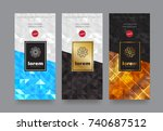 vector set packaging templates... | Shutterstock .eps vector #740687512