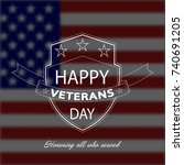 veterans day background with... | Shutterstock .eps vector #740691205
