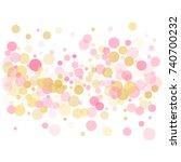 rose gold confetti circle...   Shutterstock .eps vector #740700232