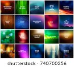 big set of 20 square dark... | Shutterstock .eps vector #740700256