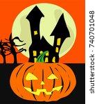 halloween | Shutterstock .eps vector #740701048