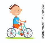 editable  illustration of boy... | Shutterstock . vector #740706952