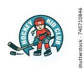 logo of the children's hockey... | Shutterstock .eps vector #740710846