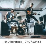 repetition of rock music band.... | Shutterstock . vector #740713465