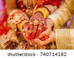 indian wedding  | Shutterstock . vector #740714182
