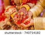 indian wedding  | Shutterstock . vector #740714182