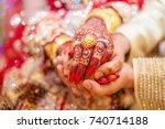 indian wedding  | Shutterstock . vector #740714188