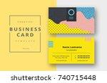 trendy minimal abstract... | Shutterstock .eps vector #740715448