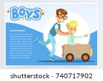 one boy pushing to another...   Shutterstock .eps vector #740717902