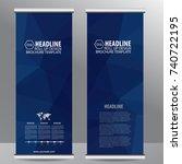 roll up business brochure flyer ... | Shutterstock .eps vector #740722195