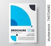 flyer brochure design template... | Shutterstock .eps vector #740724082