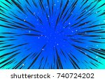 hyper speed warp sun rays or...   Shutterstock . vector #740724202