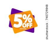 sale speech bubble banner ... | Shutterstock .eps vector #740729848
