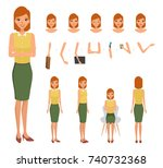 woman character constructor for ... | Shutterstock .eps vector #740732368
