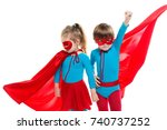 funny superheroes. children... | Shutterstock . vector #740737252