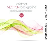 abstract color waves isolated... | Shutterstock .eps vector #740743255