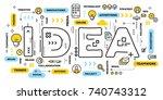 creative idea concept. vector... | Shutterstock .eps vector #740743312