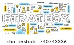 business strategy concept.... | Shutterstock .eps vector #740743336