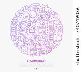 testimonials and quote concept...   Shutterstock .eps vector #740749036