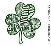 irish shamrock vector art with... | Shutterstock .eps vector #740758792