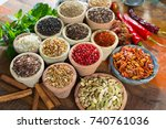 variety of different asian and...   Shutterstock . vector #740761036