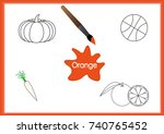 learn the colors  kids are...   Shutterstock .eps vector #740765452