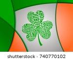 ireland shamrock  clover  art... | Shutterstock .eps vector #740770102