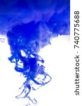 acrylic blue and ink in water.... | Shutterstock . vector #740775688