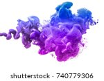 ink in water isolated on white... | Shutterstock . vector #740779306
