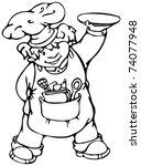 chef man. | Shutterstock .eps vector #74077948