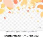 autumn pastel leaves on... | Shutterstock .eps vector #740785852