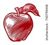 Stylized Apple Illustration