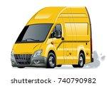 cartoon van isolated on white... | Shutterstock .eps vector #740790982