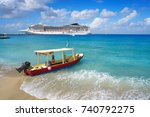 cozumel island beach in riviera ... | Shutterstock . vector #740792275