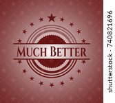 much better badge with red... | Shutterstock .eps vector #740821696