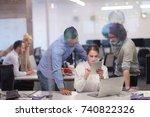 portrait of successful business ... | Shutterstock . vector #740822326