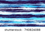 watercolor stripes in grunge... | Shutterstock .eps vector #740826088
