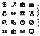 16 vector icon set   dollar ... | Shutterstock .eps vector #740845306