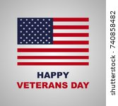 veterans day | Shutterstock .eps vector #740858482