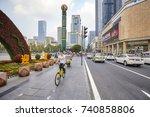 chengdu  china   september 29 ... | Shutterstock . vector #740858806