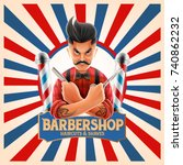 barber shop hipster | Shutterstock .eps vector #740862232