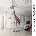 The Giraffe Hold The Chandelie...
