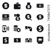 16 vector icon set   dollar ... | Shutterstock .eps vector #740867575